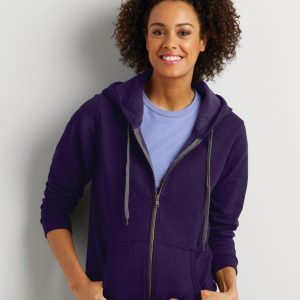 Gildan Heavy Blend? Ladies' Vintage Full Zip Hooded Sweatshirt