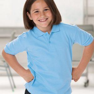 Jerzees Schoolgear Children's Hardwearing Polycotton Polo