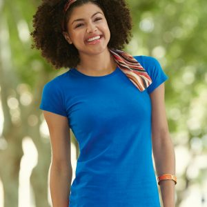 Fruit Of The Loom Lady-Fit Sofspunᄅ T-Shirt