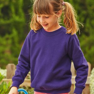 Fruit Of The Loom Children's Premium Raglan Sweatshirt
