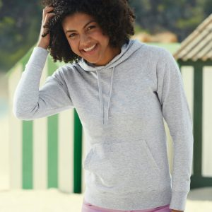 Fruit Of The Loom Lady-Fit Lightweight Hooded Sweat