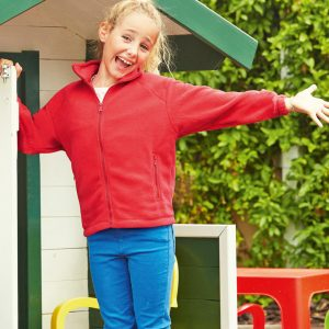 Fruit Of The Loom Children's Full Zip Outdoor Fleece