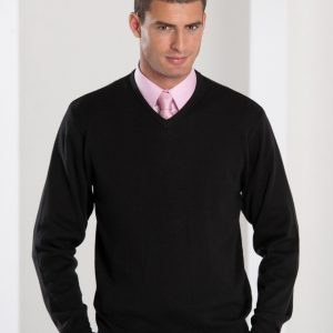 Russell Collection Men's V-Neck Knitted Pullover