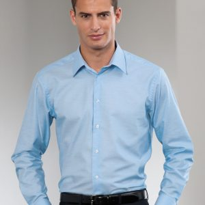 Russell Collection Men's Long Sleeve Easy Care Tailored Oxford Shirt