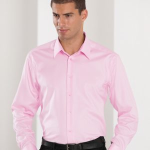 Russell Collection Men's Long Sleeve Tailored Ultimate Non-Iron Shirt