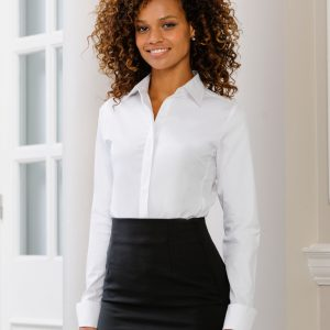 Russell Collection Ladies' Long Sleeve Ultimate Stretch Shirt