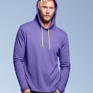 Anvil Adult Fashion Basic Long Sleeve Hooded T-Shirt
