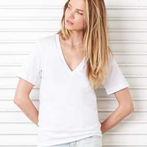 Bella Canvas Unisex Jersey Short Sleeve Deep V-Neck Tee