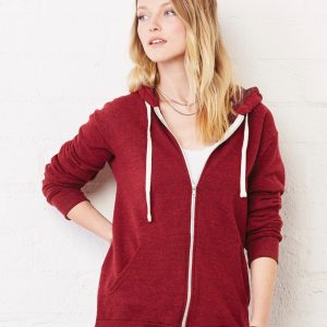 Bella Canvas Unisex Triblend Sponge Fleece Full-Zip Hoodie