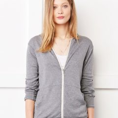 Bella Canvas Unisex Triblend Full-Zip Lightweight Hoodie
