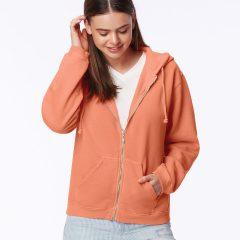 Comfort Colors Ladies' Full Zip Hooded Sweatshirt