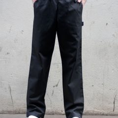 Dennys Black Elasticated Trouser