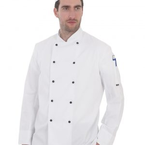 Dennys Removable Stud Lightweight Long Sleeve Chef's Jacket