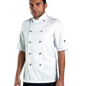 Dennys Removable Stud Lightweight Short Sleeve Chef's Jacket