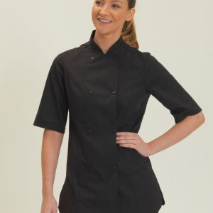 Dennys Ladies' Short Sleeve Chef's Jacket