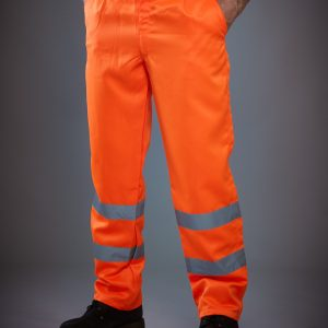 Yoko Hi-Vis Polycotton Work Trouser (Tall)