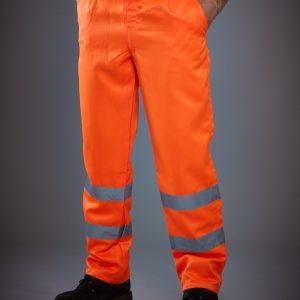 Yoko Hi-Vis Polycotton Work Trouser (Tall)