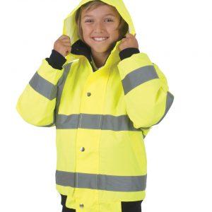 Yoko Children's Hi-Vis Bomber Jacket
