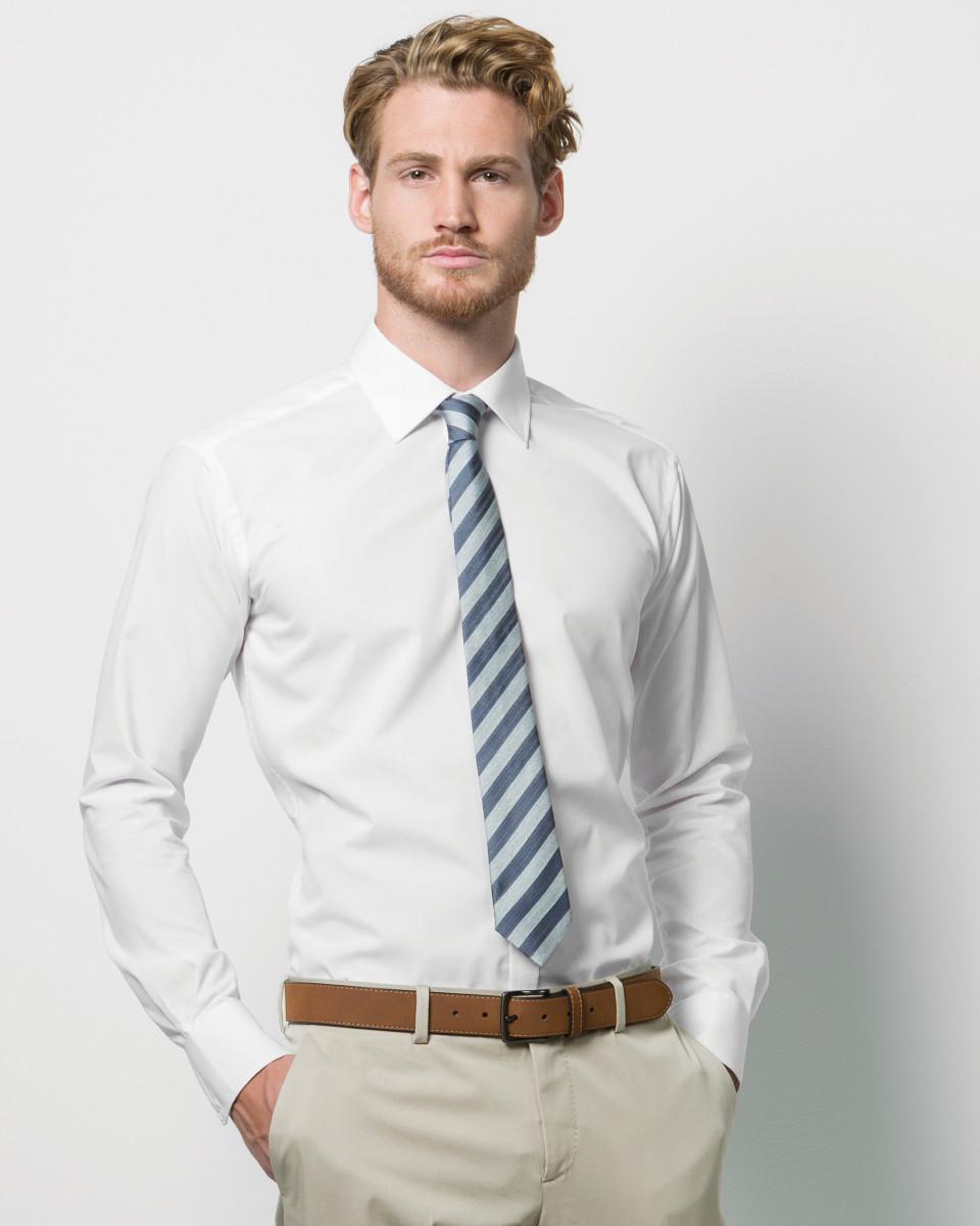 076c08f6f9 Kustom Kit Men's Slim Fit Long Sleeve Business Shirt
