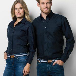Kustom Kit Men's Workwear Long Sleeve Oxford Shirt