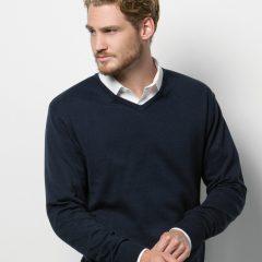 Kustom Kit Men's Arundel Long Sleeve V-Neck Sweater