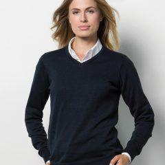 Kustom Kit Ladies' Arundel Long Sleeve V-Neck Sweater
