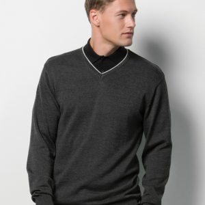 Kustom Kit Contrast Arundel Knitted Sweater