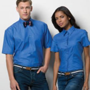 Kustom Kit Ladies' Workwear Short Sleeve Oxford Shirt