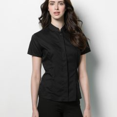 Bargear Ladies' Short Sleeved Mandarin Collar Bar Shirt