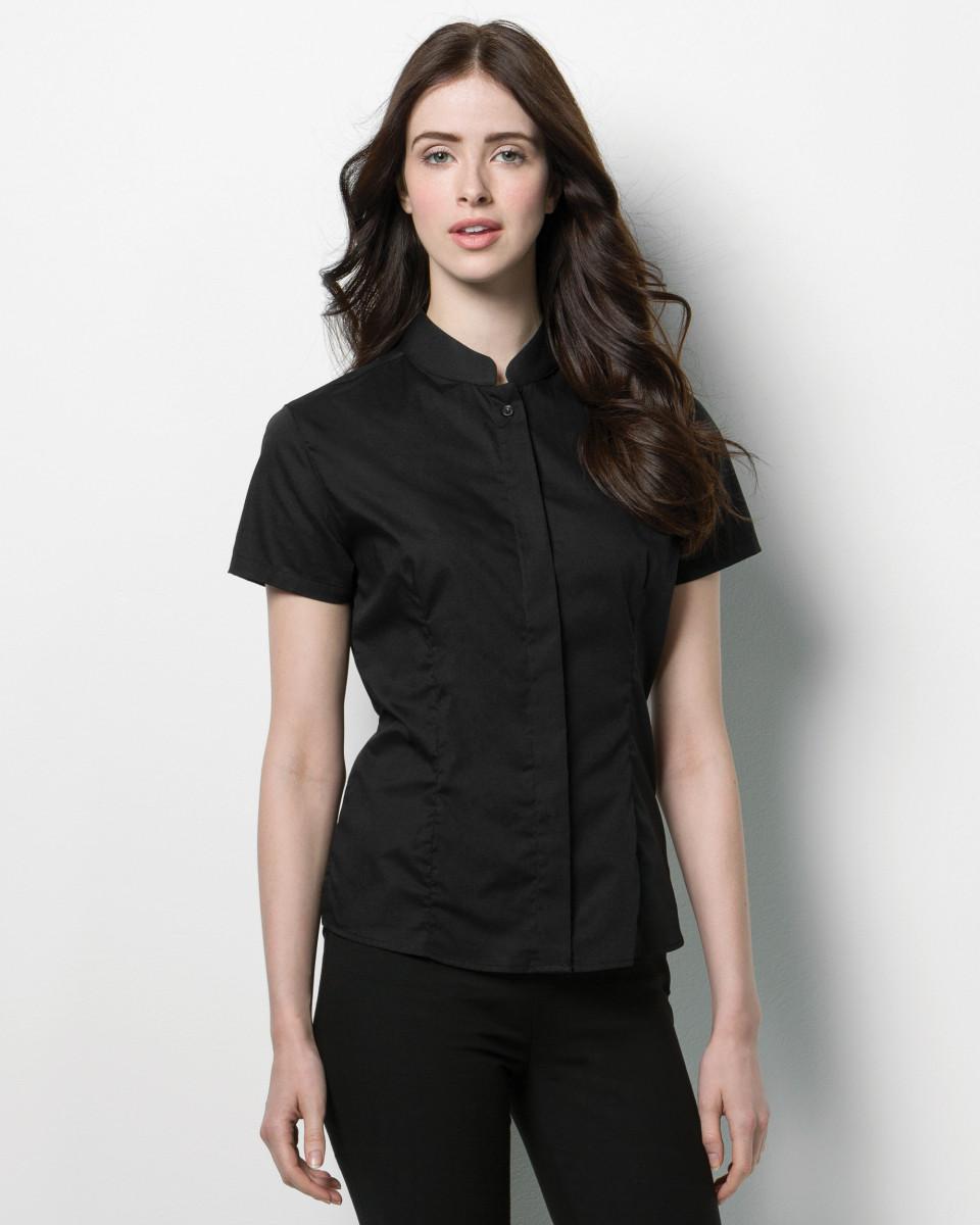 1ff67cc1d Bargear Ladies' Short Sleeved Mandarin Collar Bar Shirt ...