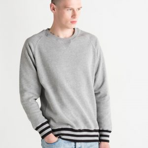 Mantis Men's Superstar Striped Hem Sweatshirt