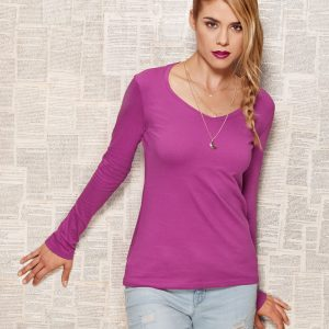 Stars By Stedman Claire Ladies' V-Neck Long Sleeve T-Shirt
