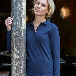 Tee Jays Ladies' Luxury Stretch Long Sleeve Polo