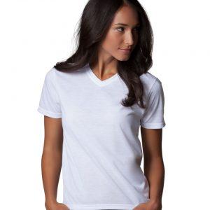 Xpres Ladies' Short Sleeve Subli Plusᄅ V-Neck T-Shirt