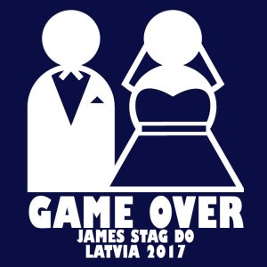 game over stag t shirts
