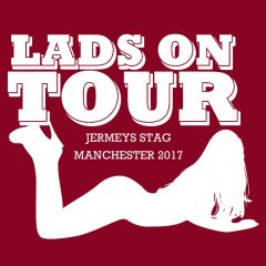lads on tour stag do t shirts