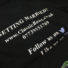 Custom back print - womens company polo shirts